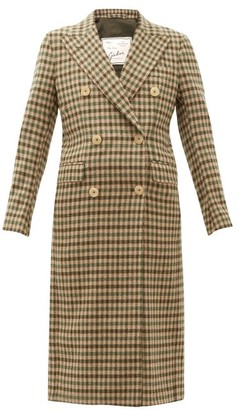Giuliva Heritage Collection The Cindy Gunclub Check Wool Overcoat - Beige Multi