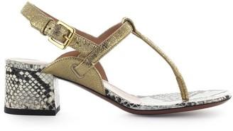 L'Autre Chose Lautre Chose Gold Python Thong Sandal