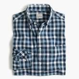 J.Crew Secret Wash shirt in checked heather poplin