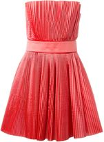 Capucci pleated strapless dress