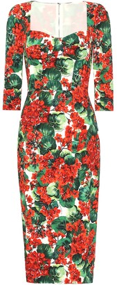 Dolce & Gabbana Floral stretch crepe midi dress