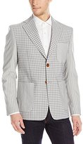 Vivienne Westwood Men's Check and Stripe Tech Wool Patch Jacket