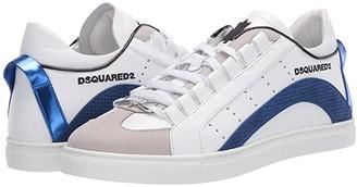 DSQUARED2 551 Low Sole Sneaker (White/Blue) Men's Shoes