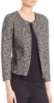 Max Mara Kiss Cotton & Wool Gingham Jacket