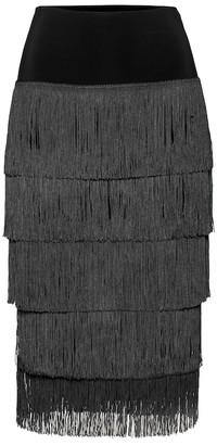 Norma Kamali Fringed skirt