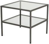 Studio Designs Camber End Table Pewter and Clear Glass