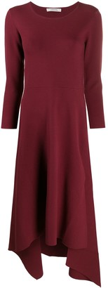 Schumacher Dorothee long-sleeve flared midi dress