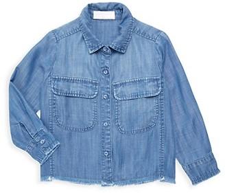 Bella Dahl Little Girl's & Girl's Frayed-Hem Shirt Jacket