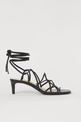 H&M Laced Sandals - Black
