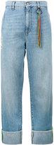 Mira Mikati Turn-up wide-leg denim jeans