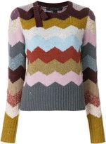 Marc Jacobs cashmere chevron intarsia sweater