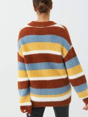 Very Fluffy Wide Stripe Jumper - Multi