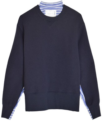 Sacai Sponge Sweatshirt in Navy
