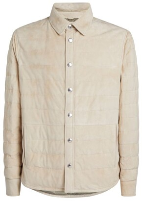 Brunello Cucinelli Leather Padded Overshirt