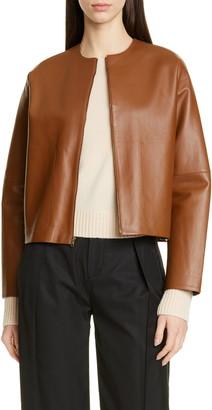 Vince Crop Leather Jacket