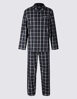 Marks and Spencer Pure Cotton Checked Classic Pyjamas