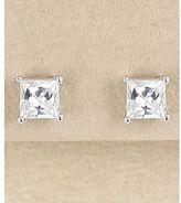 Dillard's sterling collection 5mm cz stud earrings