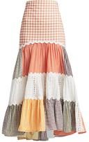 Silvia Tcherassi Petrona Tiered Maxi Skirt