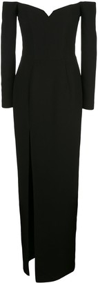 Rasario Off-Shoulder Corset Gown