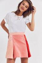 BDG Colorblock Corduroy Mini Skirt
