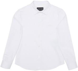 Emporio Armani Boy's Poplin Stretch Button Down Shirt, Size 4-16