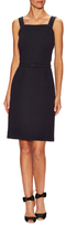 Oscar de la Renta Sleeveless Square Neck Pencil Dress