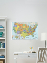 USA and World Map Decals (Set of 2)