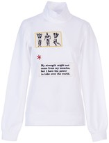 Acephala White Patch Roll Neck Sweatshirt Jumper