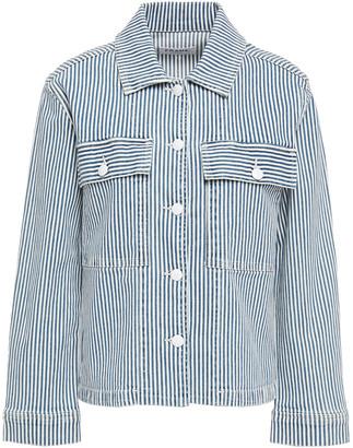 Frame Striped Denim Jacket