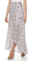 Juniors' Mason & Belle Print Wrap Maxi Skirt