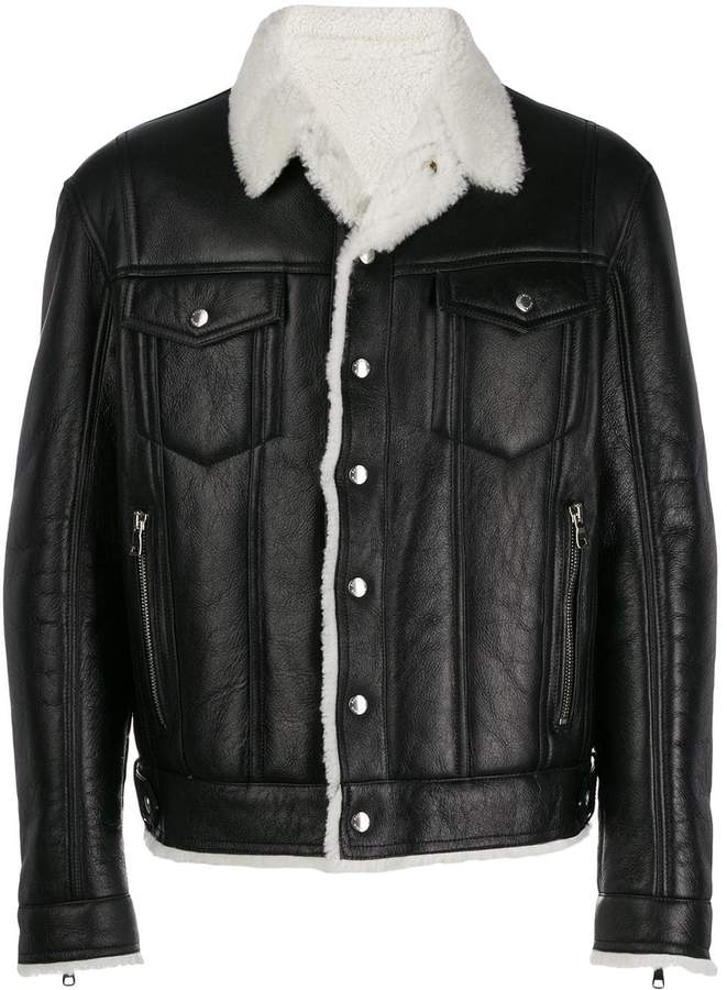 df082c396 shearling bomber jacket