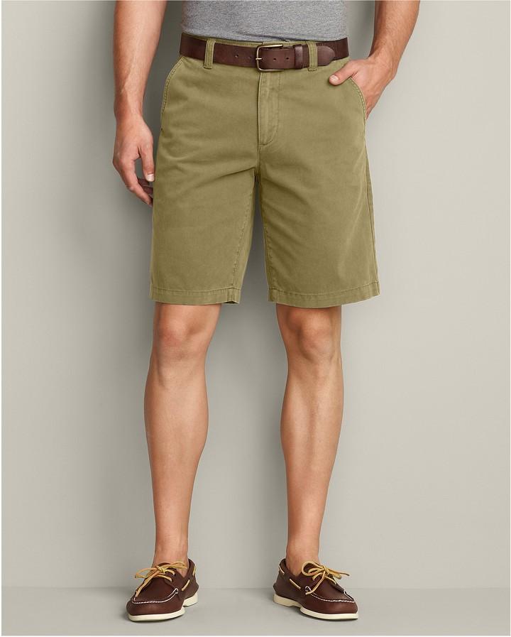 Eddie Bauer Legend Wash 10 inch Chino Shorts - Solid
