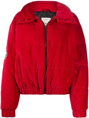 Fiorucci Velvet Quilted Puffer Jacket