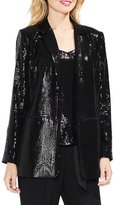 Vince Camuto All-Over Sequin Open Front Blazer