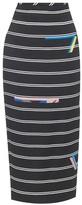Preen by Thornton Bregazzi Eunice stripe-print pencil skirt
