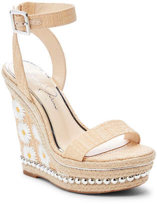 Jessica Simpson Alinda Woven Platform Wedge Sandals Women Shoes