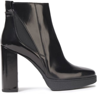 Tod's Polished-leather Platform Ankle Boots