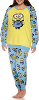 Asstd National Brand Illumination Minions Pant Pajama Set-Juniors