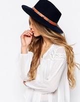 French Connection Felt Wide Brim Fedora Hat
