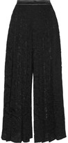 Givenchy Pleated Lace Culottes - Black