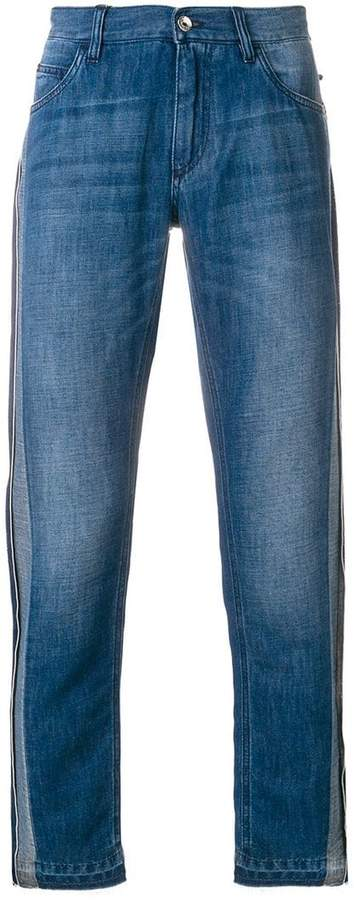 Dolce & Gabbana contrast side panel straight jeans