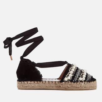 Miss KG Women's Diana Espadrille Sandals - Black - UK 7 - Black