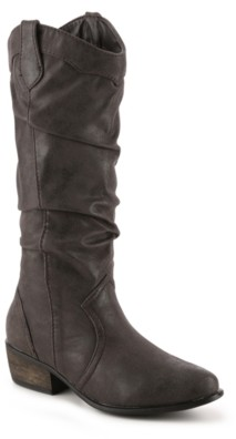 Journee Collection Drover Wide Calf Cowboy Boot