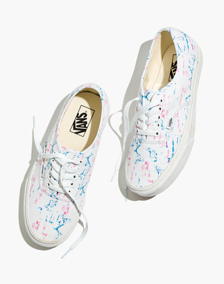 Madewell x Vans Unisex Authentic Lace-Up Sneakers in Tie-Dye Canvas