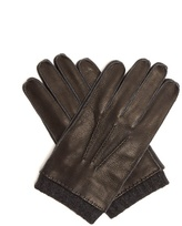 Paul Smith Contrast-cuff leather gloves