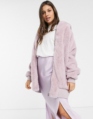 Free People Turn Up hooded jacket-Purple