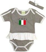 PAM baby Ash girl italia soccer ruffed bodysuit