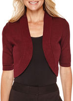 WORTHINGTON Worthington Short-Sleeve Bolero Shrug