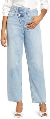 AGOLDE Crisscross Upsize High Waist Jeans