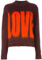 Givenchy love print sweater